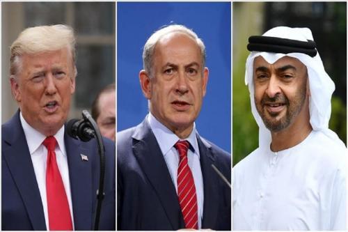 Donald Trump,Benjamin Netanyahu e Mohammed bin Zayed [Agência Anadolu]