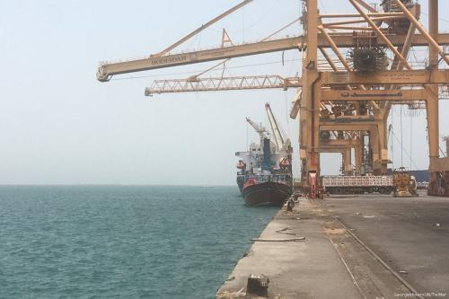 Porto de Hudaydah, no Iêmen, 7 de dezembro de 2017 [George Khoury/Twitter]