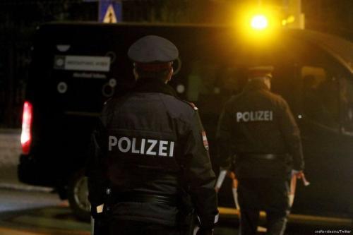 Polícia austríaca, 12 de março de 2018 [raftsvideoinc / Twitter]