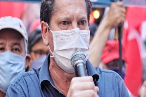 Campanha no Ato dos Servidores Públicos no centro de São Paulo [Foto Filipe Araújo]