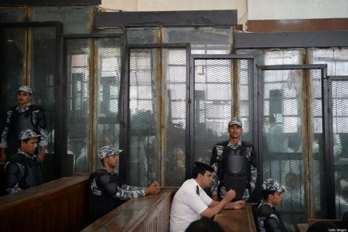 Tribunal no Cairo, Egito, 8 de setembro de 2018 [Mohamed el-Shahed/AFP/Getty Images]