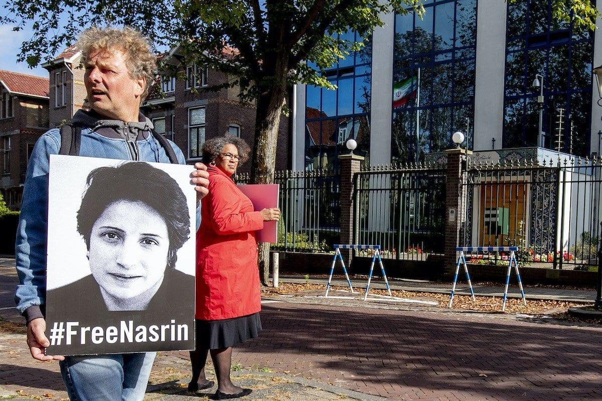 Anistia Internacional reivindica que o governo iraniano liberte imediata e incondicionalmente a advogada de direitos humanos Nasrin Sotoudeh [Niels Wenstedt/Agência BSR/Getty images]