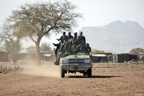 Membros do Exército Sudanês em 18 de março de 2017 [Unamid/ Flickr]