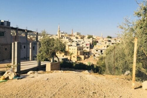 Campo de refugiados de Jerash na Jordânia, 29 de dezembro de 2020