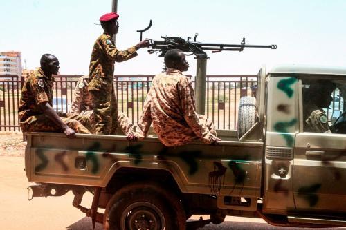 Soldados do exército sudanês no Sudão em 31 de agosto de 2019 [Ebrahim Hamid/ AFP/ Getty Images]