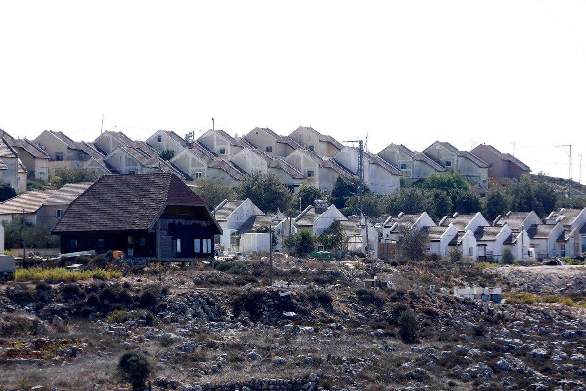 Assentamento ilegal israelense na cidade de Nablus, Cisjordânia ocupada, 18 de outubro de 2020 [Shadi Jarar'ah/Apaimages]