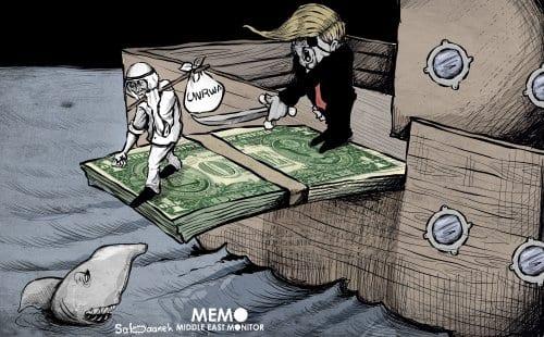 Decisão dos EUA de cortar o financiamento da UNRWA - Cartum [Sabaaneh / MiddleEastMonitor]