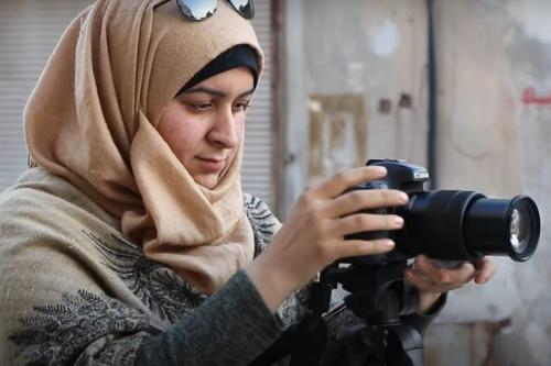 Ativista de mídia Nour Al-Shilo, em 19 de novembro de 2020. [14wombat1/Twitter]