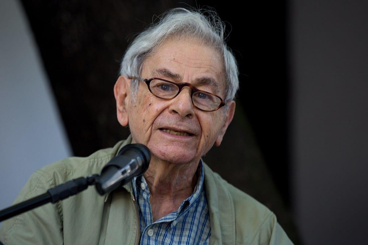 Raduan Nassar na cerimônia de entrega do Prêmio Camões de Literatura, em 27 de fevereiro de 2017 [Janine Moraes/MinC]