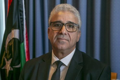 O ministro do Interior do Governo da Líbia de Acordo Nacional (GNA), Fathi Bashagha, fala durante uma conferência de imprensa em Tunis, Tunísia, em 26 de dezembro de 2019. [Yassıne Gaıdı - Agência Anadolu]