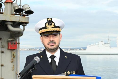 Almirante Fabio Agostini [Força Naval Mediterrânea da União Europeia/Twitter]
