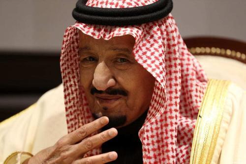 Rei Salman bin Abdulaziz Al Saud da Arábia Saudita, em 24 de fevereiro de 2019, em Sharm El Sheikh, Egito. [Dan Kitwood/Getty Images]