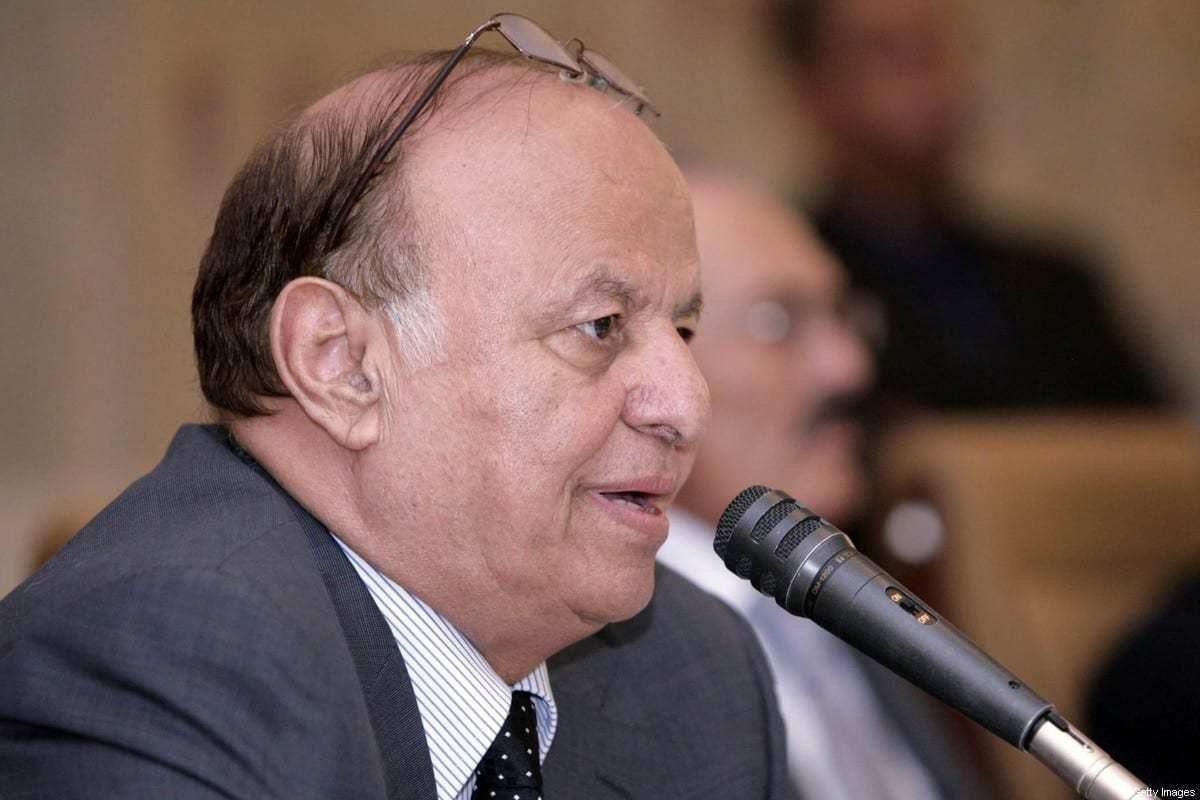 Presidente do Iêmen Abd Rabbuh Mansur Hadi em 7 de dezembro de 2011 [AFP via Getty Images]