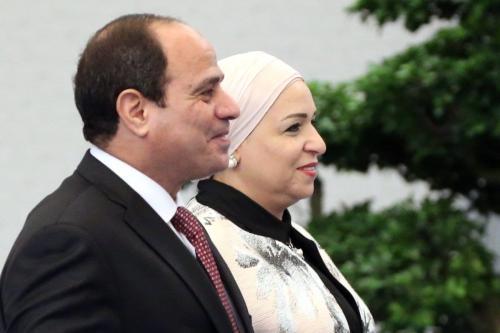 Presidente do Egito Abdel Fattah el-Sisi e sua esposa Entissar Amer em Xiamen, China, 4 de setembro de 2017 [Mikhail Svetlov/Getty Images]