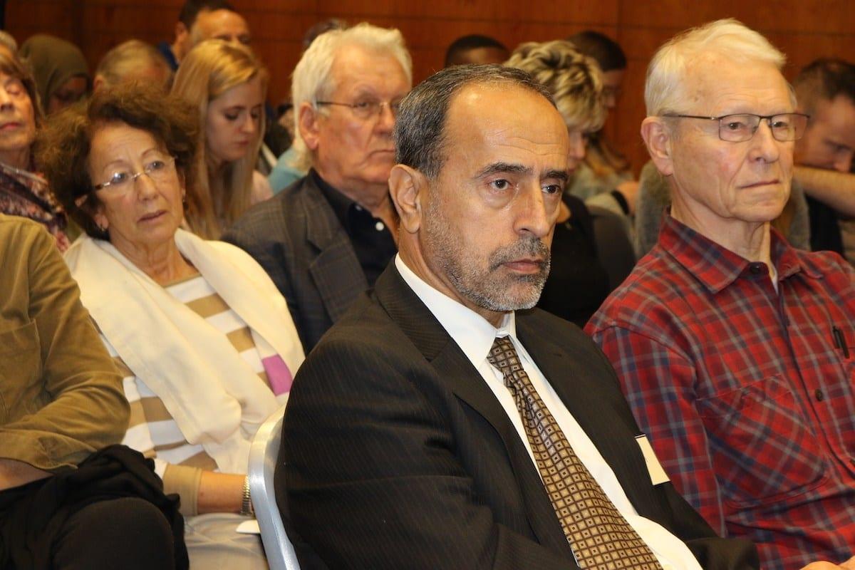 """Zaher Birawi na conferência sobre """"A Questão Palestina na Europa"""", realizada por MEMO e o Fórum EuroPal, em 23 de novembro de 2019 [Foto: Monitor do Oriente Médio]"""