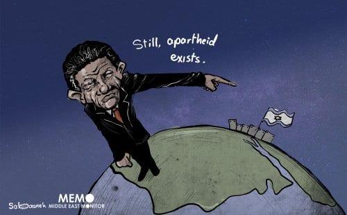 A África do Sul está com a Palestina. [Sabaaneh/Monitor do Oriente Médio]
