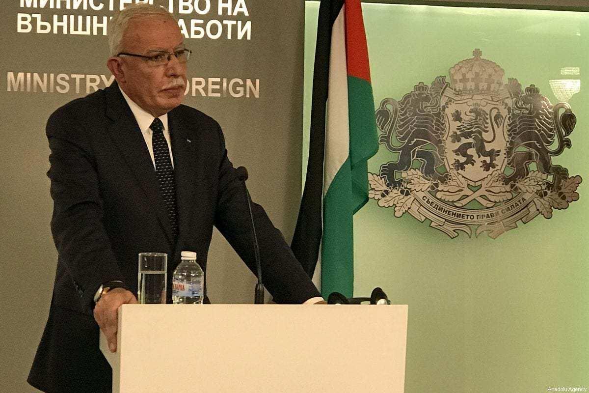 Ministro das Relações Exteriores da Palestina, Riyad al-Maliki, em 02 de setembro de 2019. [İhvan Radoykov/Agência Anadolu]