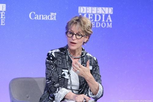 Investigadora de execuções extrajudiciais da ONU Agnes Callamard na Conferência Global para Liberdade de Mídia em Londres, Reino Unido, em 10 de julho de 2019. [Foreign and Commonwealth Office/Wikipedia]