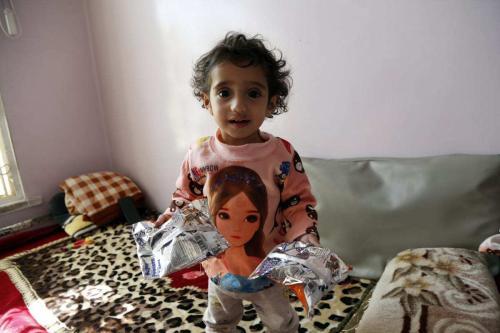 Hospital Al Sabeen trata crianças em situação de desnutrição, em Sanaa, capital do Iêmen, 5 de janeiro de 2021 [Mohammed Hamoud/Agência Anadolu]