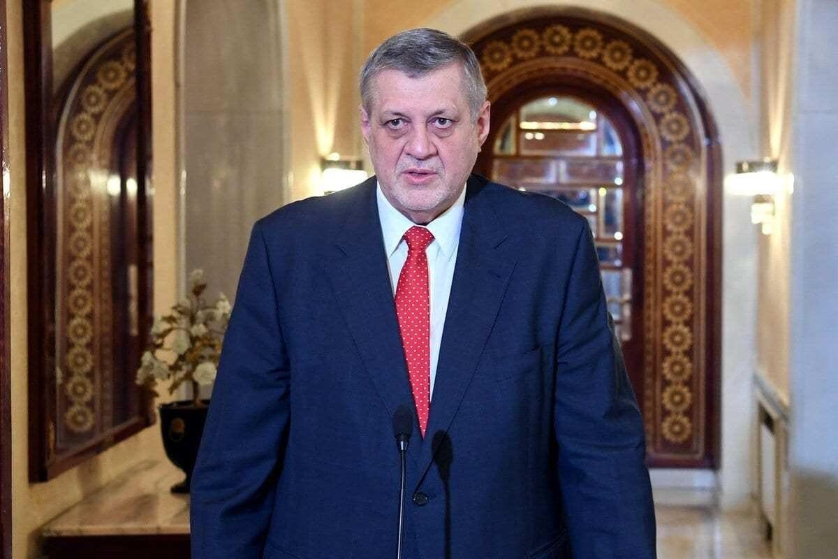 Enviado Especial das Nações Unidas para a Líbia, Jan Kubis, em Túnis, Tunísia, em 15 de fevereiro de 2021. [Presidência da Tunísia - Agência Anadolu]