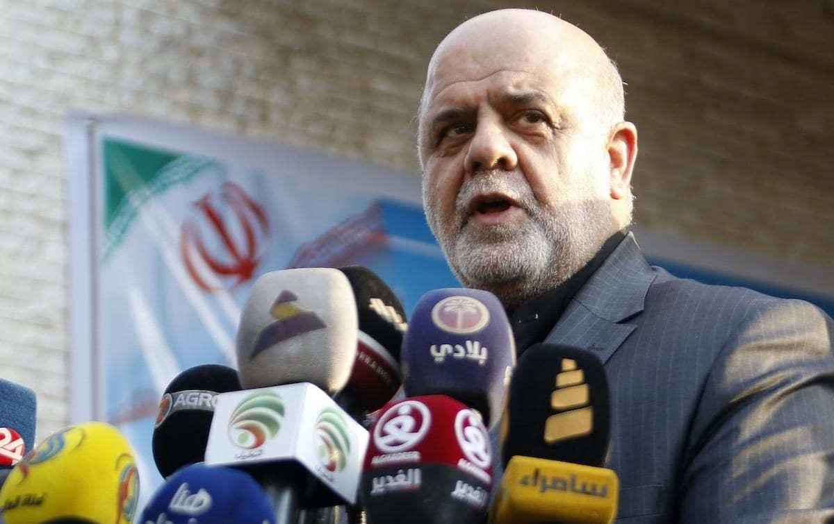 Iraj Masjedi, embaixador do Irã no Iraque, em coletiva de imprensa em Basra, 11 de setembro de 2018 [Haidar Mohammed Ali/AFP/Getty Images]