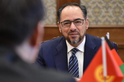 Salahuddin Rabbani Embaixador afegão em Ancara em 18 de abril de 2019 [Vyacheslav Oseledko/ AFP via Getty Images]