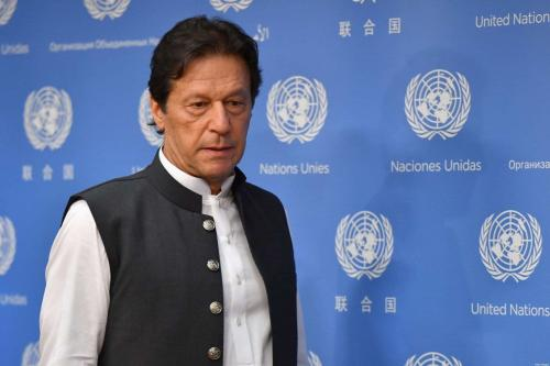 Primeiro-Ministro do Paquistão Imran Khan em Nova York, Estados Unidos, 24 de setembro de 2019 [Angela Weiss/AFP/Getty Images]