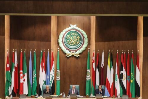 153ª reunião anual dos ministros das Relações Exteriores na sede da Liga Árabe na capital egípcia, Cairo, em 4 de março de 2020. [Mohamed El-Shahed/AFP via Getty Images]