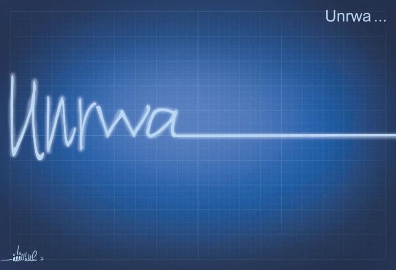 A salvação da UNRWA está diminuindo devido aos cortes feitos pela administração Trump. [AlArabi21News/Twitter]