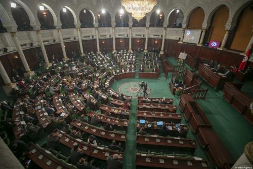 Parlamento da Tunísia, em Túnis, 26 de janeiro de 2021 [Yassine Gaidi/Agência Anadolu]