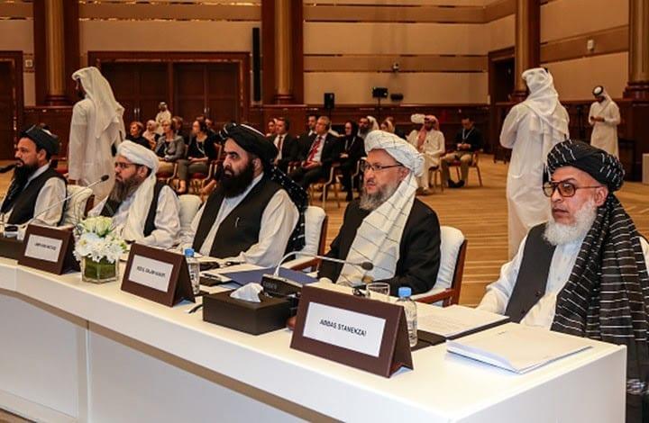 Membros do gabinete político do Taleban. [Getty]