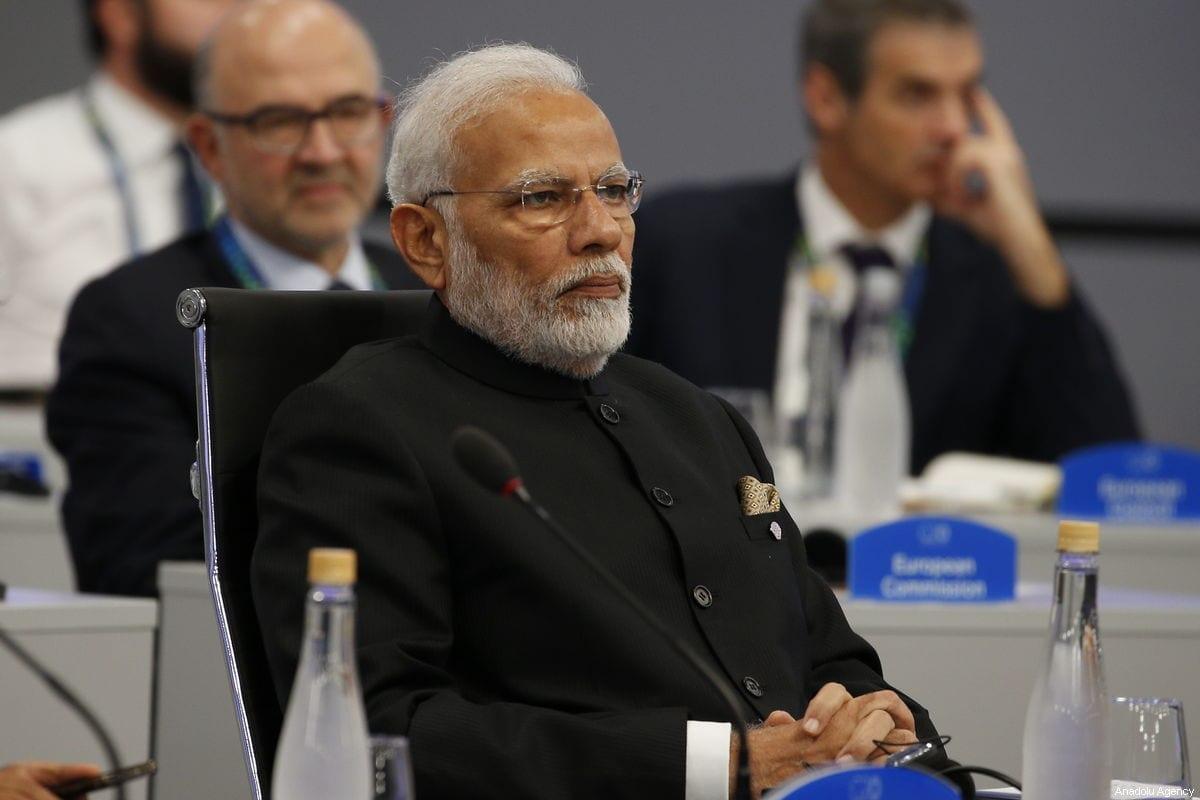 Primeiro-ministro da Índia, Narendra Modi, na Argentina, em 30 de novembro de 2018 [Murat Kaynak / Agência Anadolu]