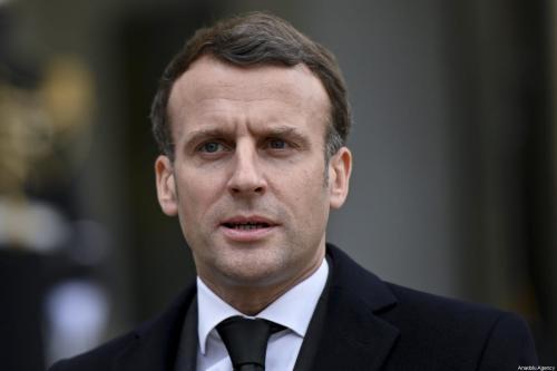 Presidente francês, Emmanuel Macron em Paris, França em 17 de março de 2021. [Julien Mattia/Agência Anadolu]