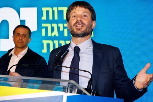 Presidente do Sionismo Religioso, Bezalel Smotrich, em 12 de agosto de 2019 [JACK GUEZ/AFP/Getty Images]