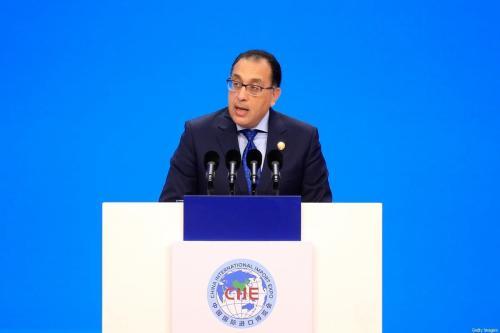 O primeiro-ministro do Egito, Mostafa Madbouly, em Xangai, em 5 de novembro de 2018. [Aly Song/AFP/Getty Images]