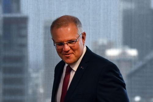 Primeiro-Ministro da Austrália Scott Morrison em Sydney, 15 de dezembro de 2018 [Mick Tsikas/Getty Images]