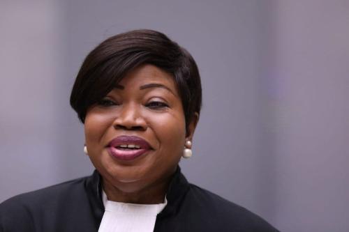Fatou Bensouda, promotora no Tribunal Penal Internacional TPI) em Haia, Holanda, em 8 de julho de 2019 [Eva Plevier/ ANP / AFP via Getty Images]
