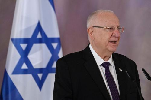 O presidente de Israel Reuven Rivlin em Berlim em 16 de março de 2021 [John Macdougall / AFP via Getty Images]