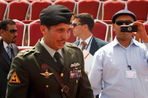 Príncipe Hamza Bin al-Hussein participa da Conferência e Exibição das Forças de Operação Especial da Jordânia, na capital Amã, 11 de maio de 2010 [Salah Malkawi/Getty Images]