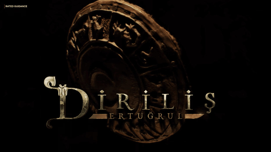"""O título de abertura do drama turco """"Dirilis: Ertugrul"""" [Captura de tela/Netflix]"""