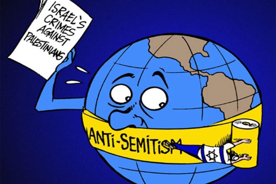 Antissemitismo e crítica de Israel. [Cartoon Latuff/Monitor do Oriente Médio]