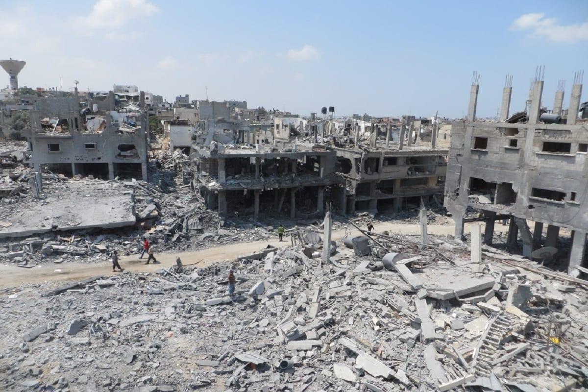 Ruins in Beit Hanoun, agosto de 2014 (Wikimedia)