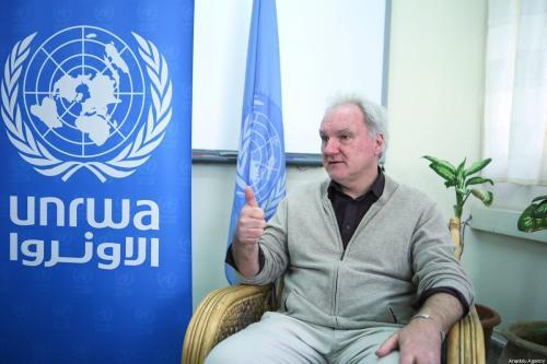 Matthias Schmale, diretor de operações da Agência das Nações Unidas de Assistência aos Refugiados da Palestina (UNRWA), durante entrevista na Cidade de Gaza, 9 de março de 2020 [Mustafa Hassona/Agência Anadolu]