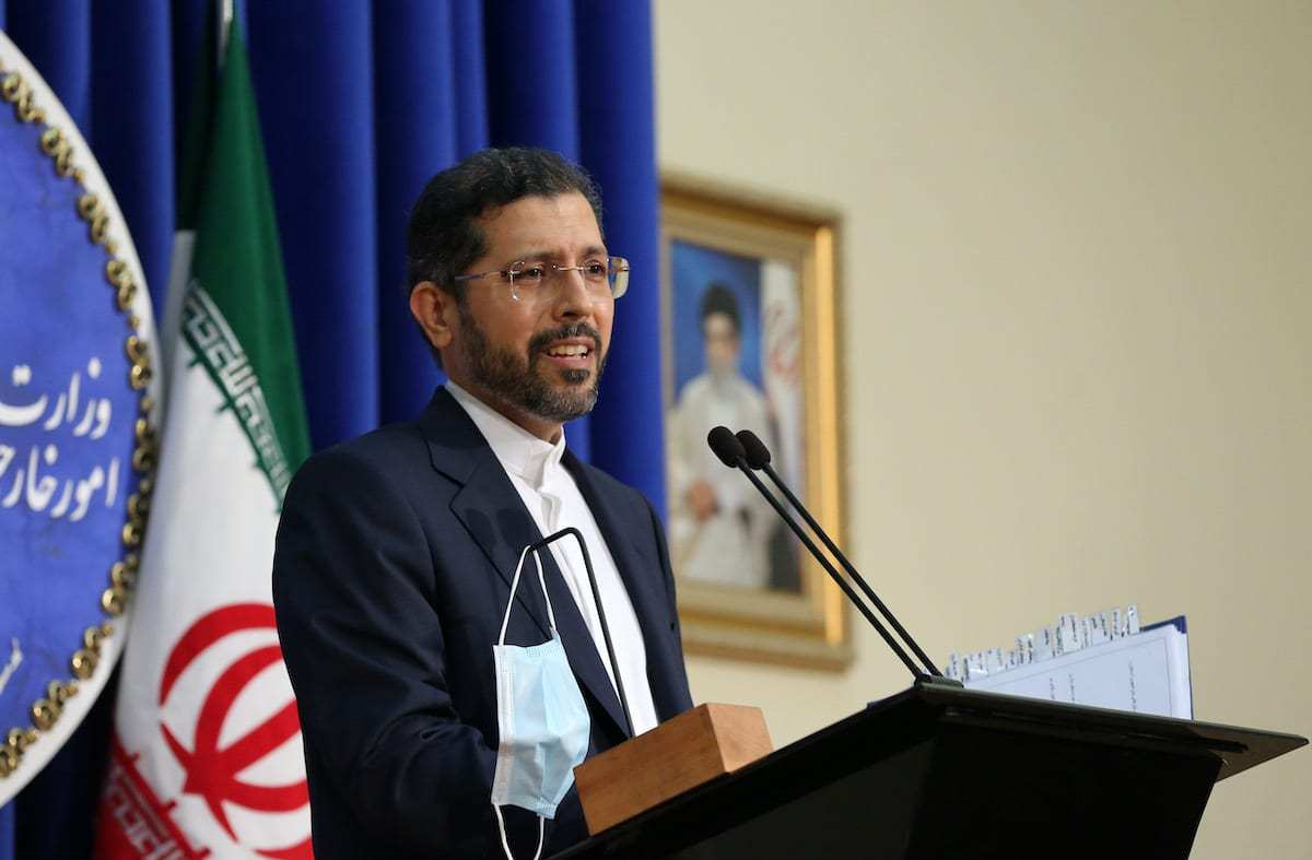 Saeed Khatibzadeh, porta-voz do Ministério de Relações Exteriores do Irã, em Teerã, 5 de outubro de 2020 [Fatemeh Bahrami/Agência Anadolu]