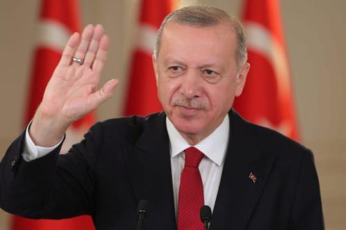 O presidente turco, Recep Tayyip Erdogan, em Istambul, Turquia, em 6 de março de 2021 [Mustafa Kamacı/Agência Anadolu]