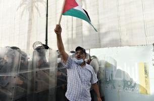 Cinquenta eventos marroquinos protestam contra Israel e condenam sua agressão a Gaza [Agência Jalal Morchidi / Anadolu]