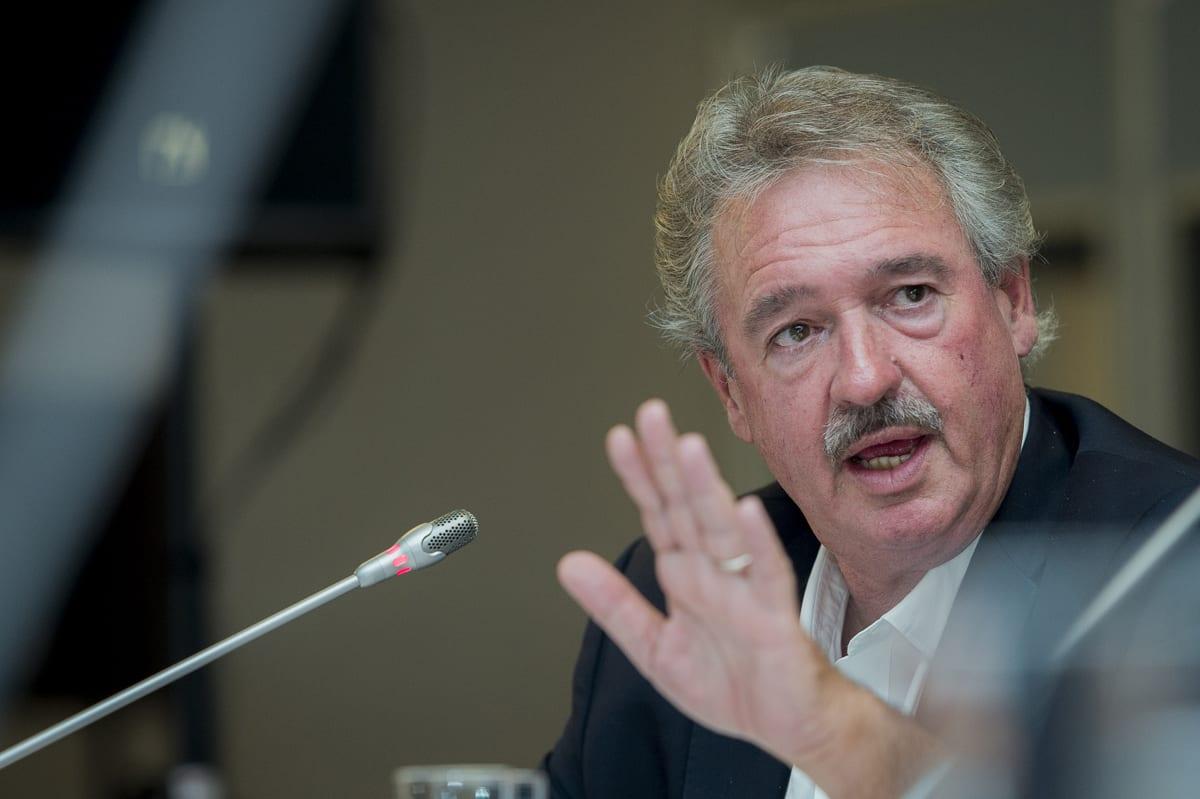 Ministro de Relações Exteriores de Luxemburgo Jean Asselborn, em reunião sobre a crise dos refugiados, 23 de setembro de 2015 [Ezequiel Scagnetti/Flickr]