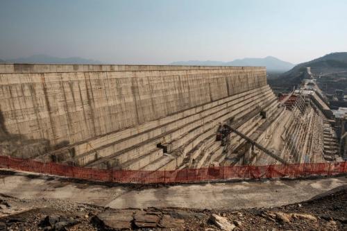 Uma visão geral da Grande Barragem da Renascença Etíope na Etiópia, em dezembro de 2019 [Eduardo Soteras/AFP/Getty Images]