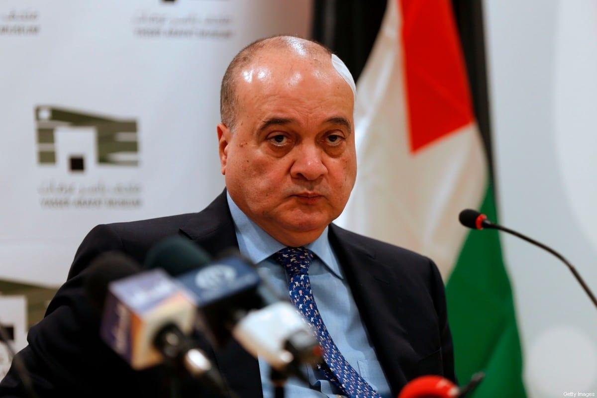 Nasser Al-Qudwa, membro do Comitê Central do Fatah e parente do falecido líder palestino Yasser Arafat na cidade de Ramallah, na Cisjordânia, em 18 de janeiro de 2017 [Abbas Momani/ AFP/ Getty Images]