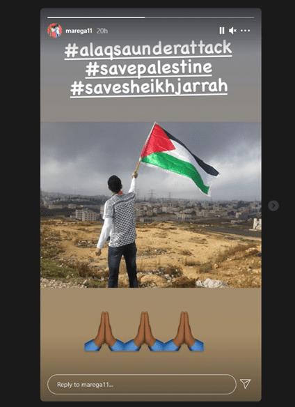 Moussa Marega expressa sua solidariedade com a Palestina através do Instagram [Monitor do Oriente Médio]